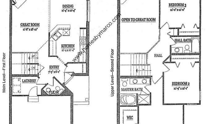 Large Townhouse Plans Ashford Model Presidents Manor