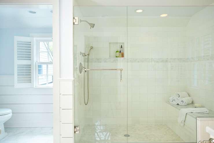 Large Walk Shower Traditional Bathroom Building