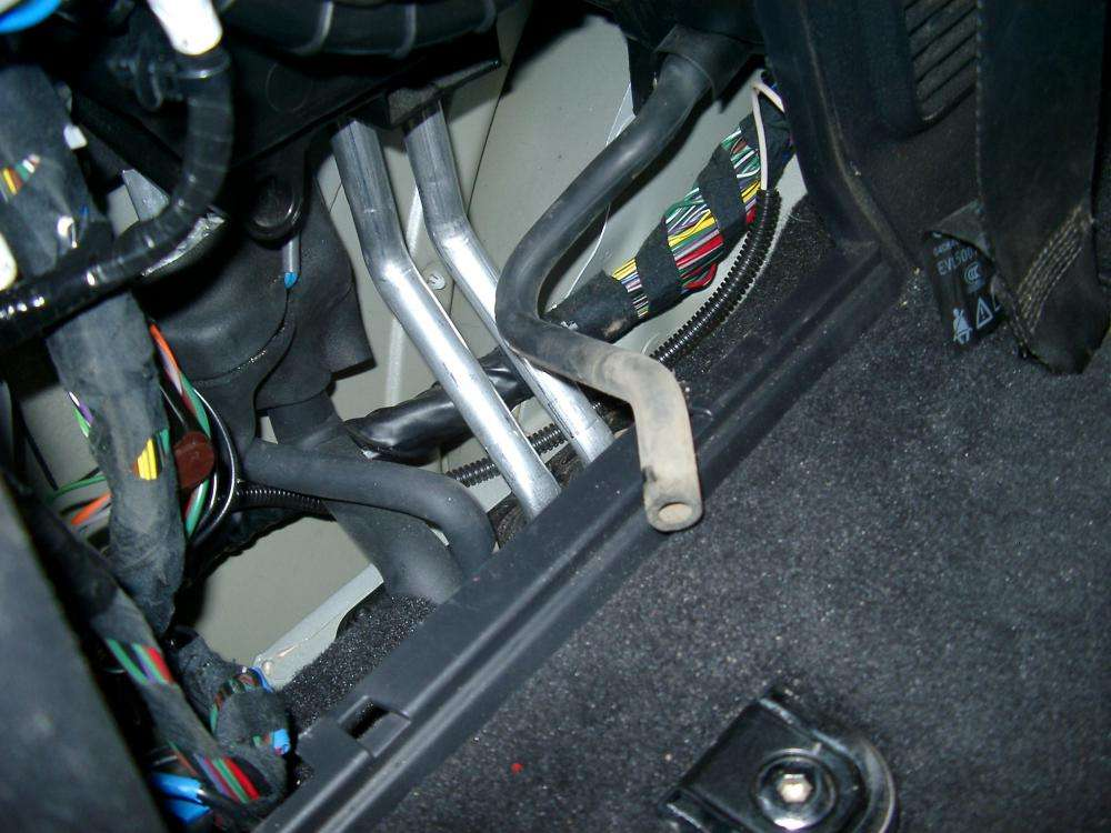 Larger Versionname Rear Heater Area Showing Drain Hose