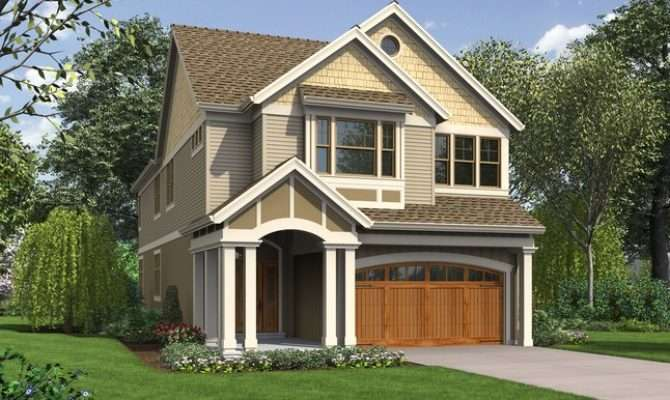 Laurelhurst Home Plan Narrow Lots