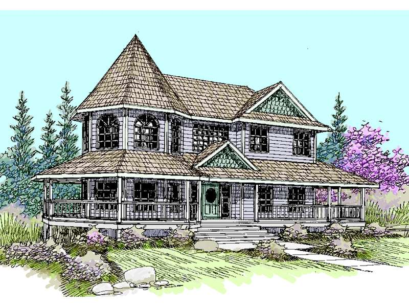 Lawnbrook Victorian Home Plan House Plans More