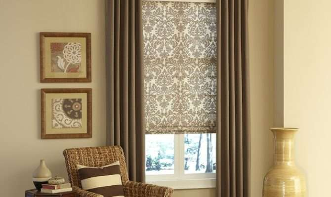 Layered Fabric Window Coverings Traditional Living