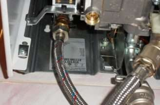 Left Bottom Hose Hot Water Supply Visible Right