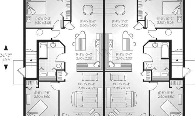 Lehigh Multi Fourplex Plan House Plans