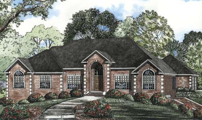 Leroux Brick Ranch Home Plan House Plans More