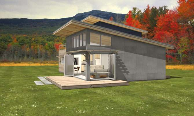 Level House Large Folding Doors Open