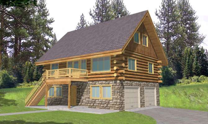 Leverette Raised Log Cabin Home Plan House Plans More