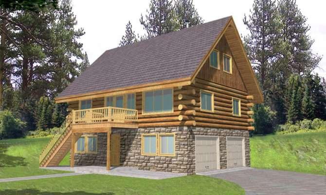 Leverette Raised Log Cabin Home Plan House