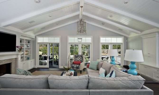 Lighting Vaulted Ceilings Room Contemporary