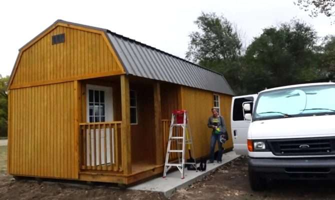 Living Off Grid Tiny Shed First Look Doovi