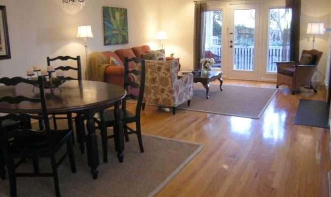 Living Room Dining Combo Ideas Orange Sofa