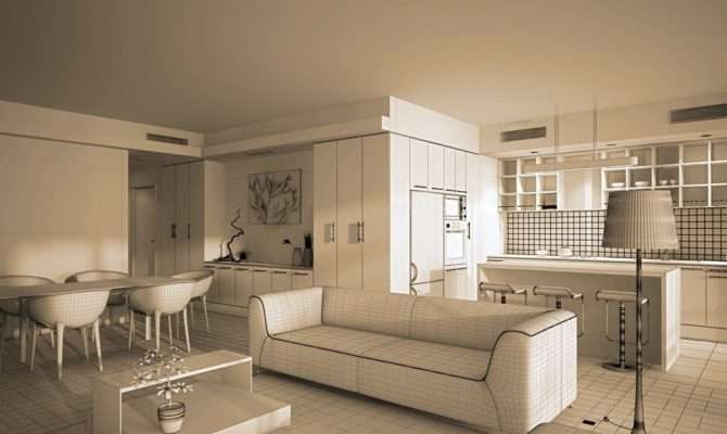 Living Room Interior Design Sofa Partition House