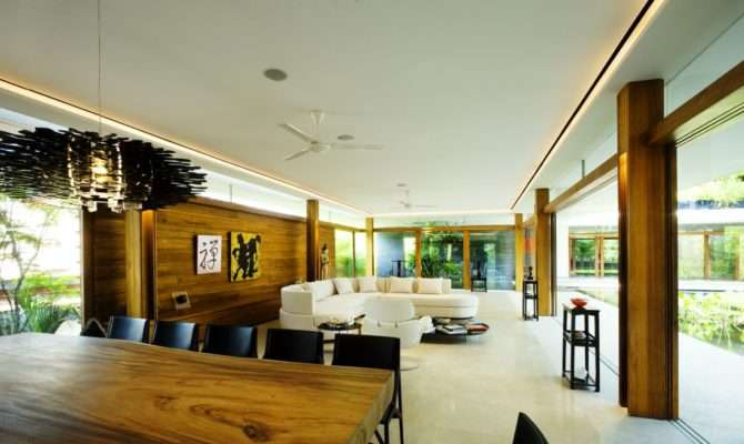 Living Room Luxury Green House Ideas Natural Courtyard Home
