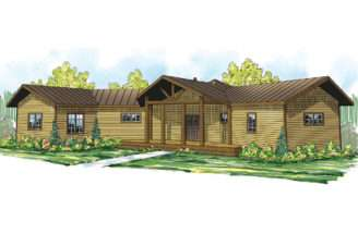 Lodge Style House Plans Greenview Associated Designs