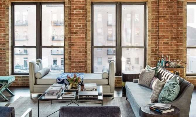Loft Living Room Design Transitional