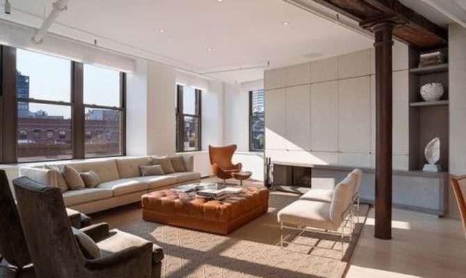 Loft Living Room Home Design Ideas Remodel