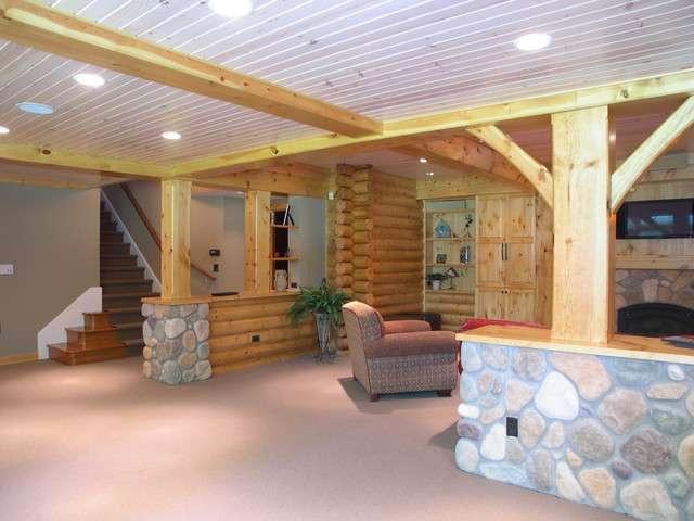 Log Cabin Basement Remodel