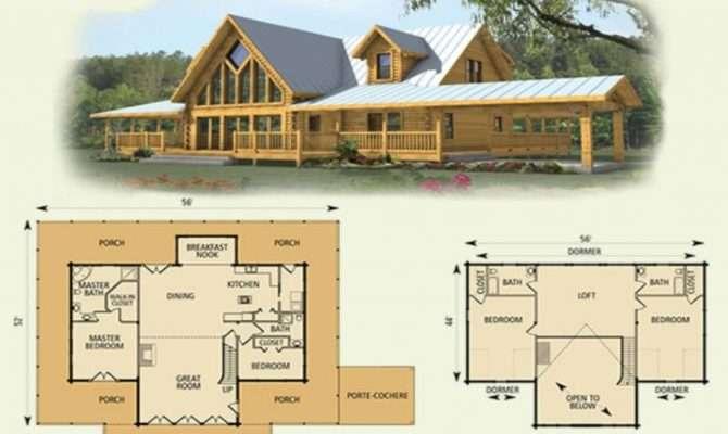 Log Cabin Floor Plan Loft Bedroom Plans Interalle