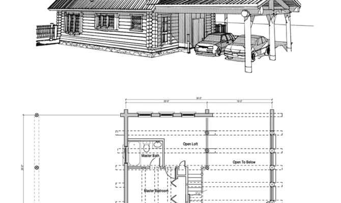 Log Cabin Floor Plans Loft