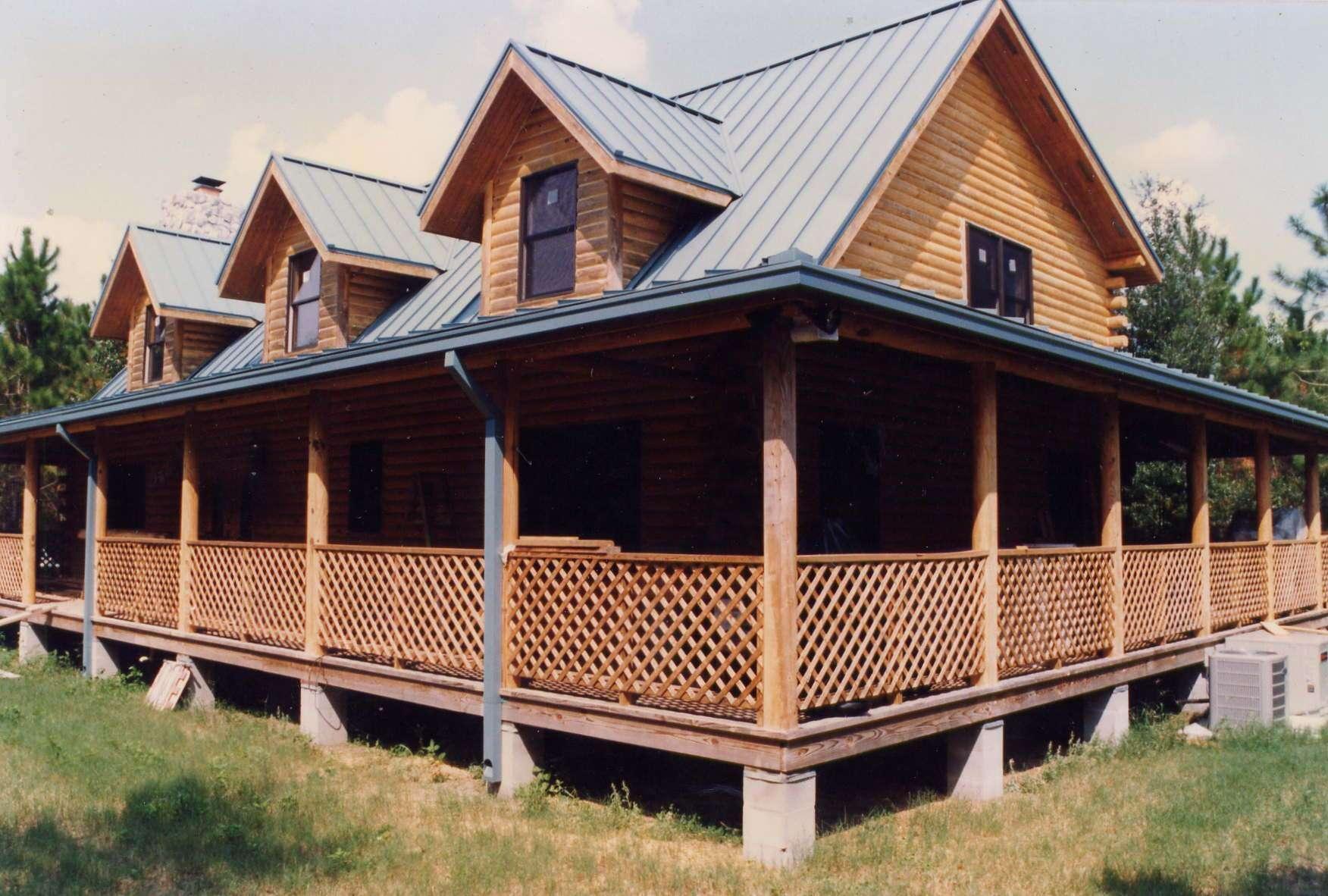 Log Cabin Floor Plans Wrap Around Porch