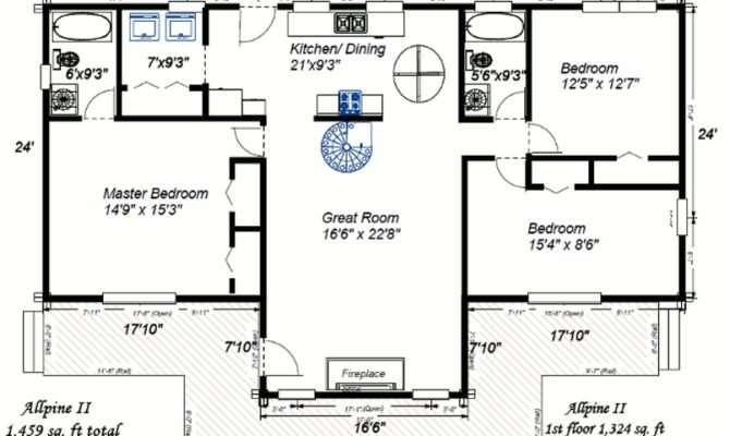 Log Cabin Home Designs Floor Plans Descriptions