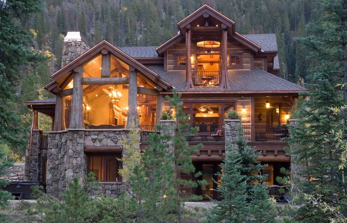 Log Cabin House Design Modern Home Decor