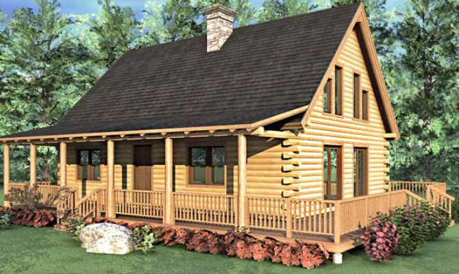 Log Home Floor Plan Bedroom Cape Style