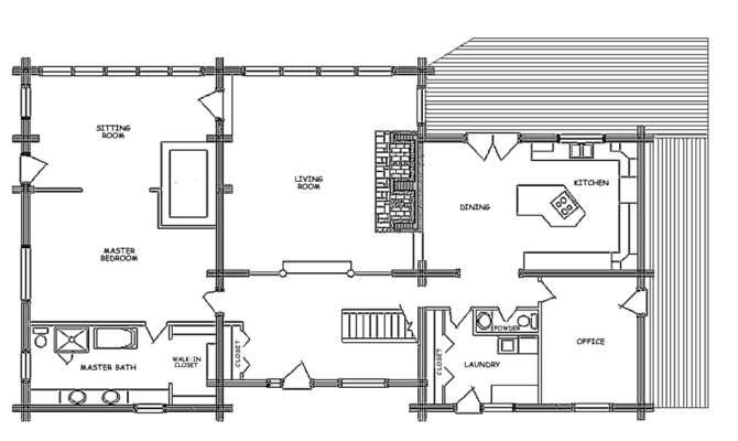 Log Home Floor Plan Showplace