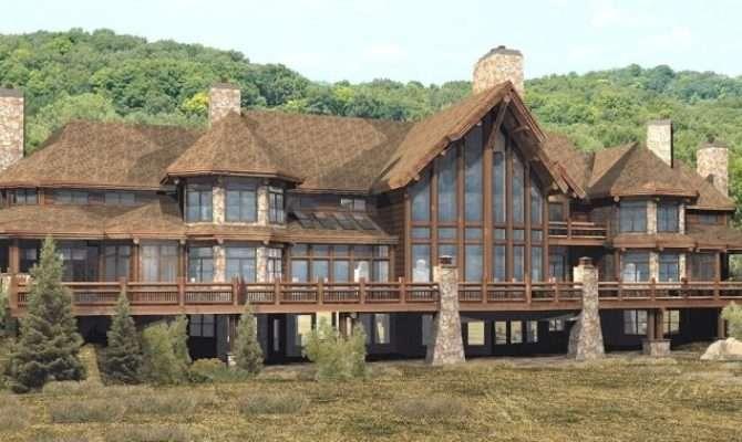 Log Home Floor Plan Wisconsin Homes Pendleton Estate