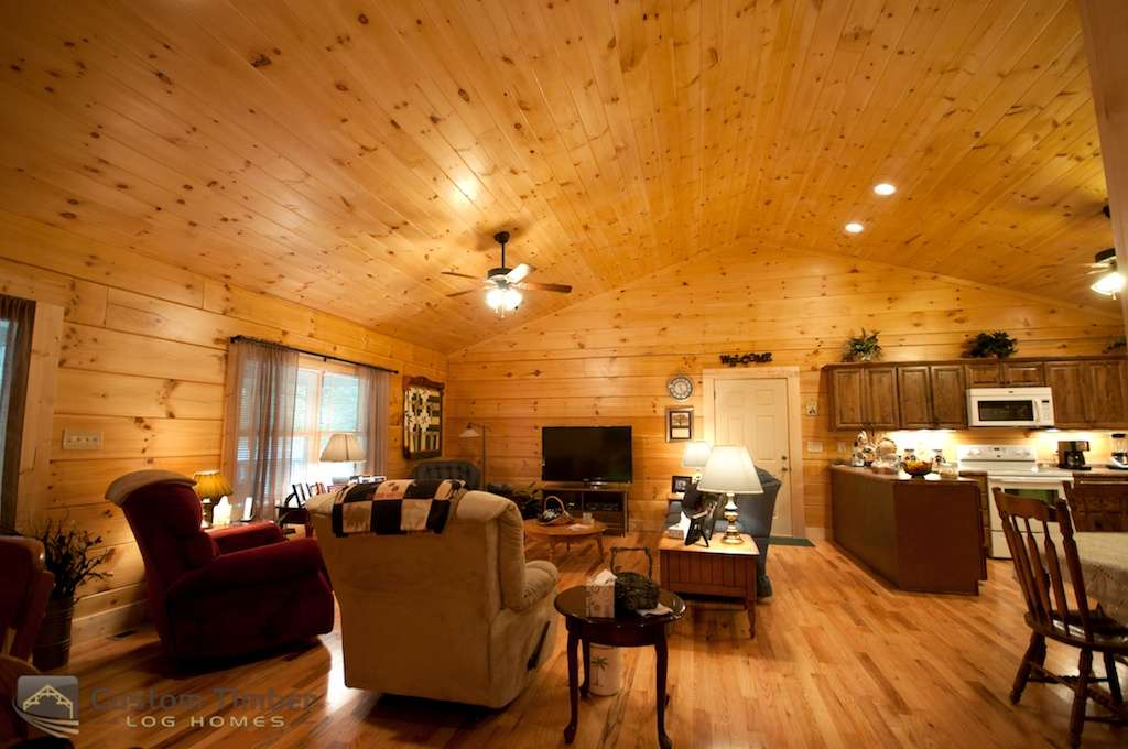 Log Home Interior Custom Timber Homes