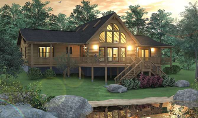 Log Home Plan Contemporary Style Real Homes