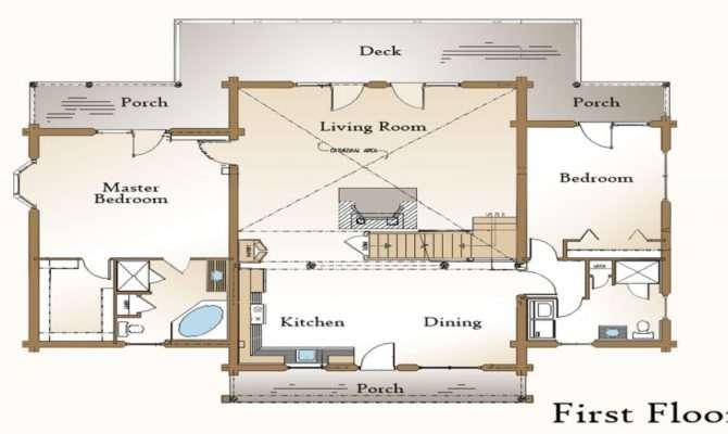 Log Home Plans Open Floor House