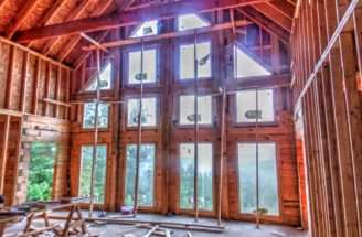 Log Home Rises Brushy Top Mountain Living Blue Ridge
