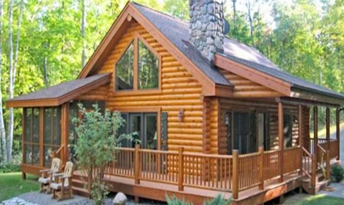 Log Home Wrap Around Porch Plans
