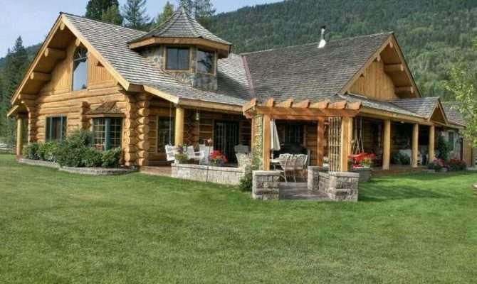 Log Stone Homes Pinterest