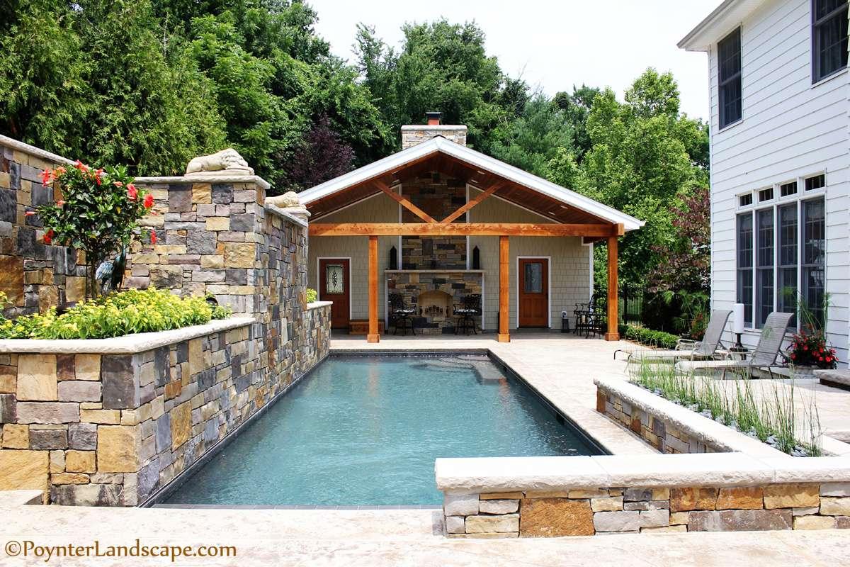 Louis Pool House Design Poynter Landscape