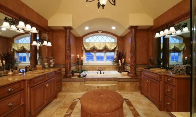 Luxurious Master Bathroom Residential Home Custom Cabinets