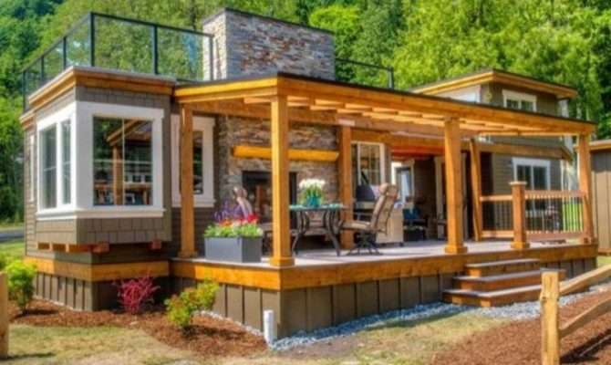 Luxurious Tiny Home Roof Top Terrace Diy Cozy