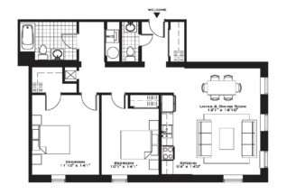 Luxury Apartment Floor Plans Plan North