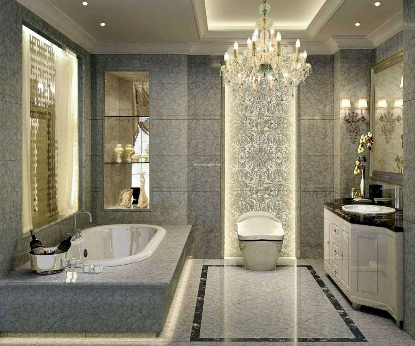 Luxury Bathroom Designs Decoration Industry Standard Design