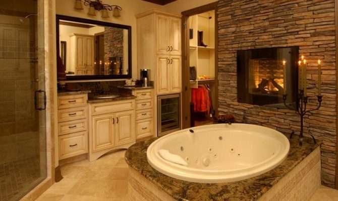 Luxury Bathrooms Astonishing Fireplaces