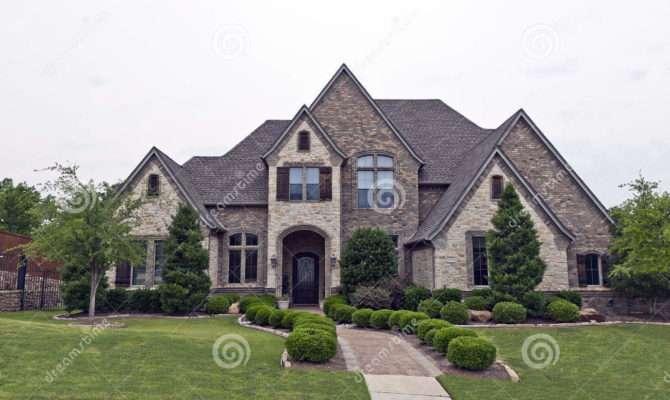 Luxury Brick Stone House Exterior