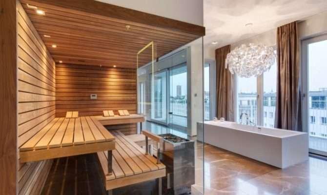 Luxury Design Sauna Room Modern Bathroom Decorating