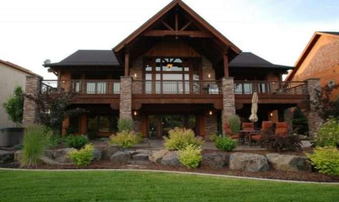 Luxury Hillside House Plans Walkout Basement New