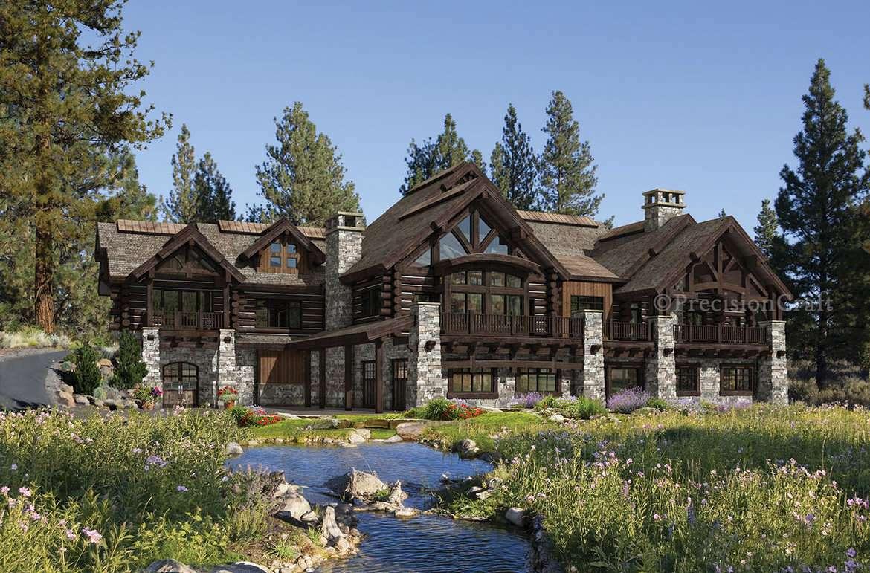 Luxury Log Home Floor Plans Mywoodhome