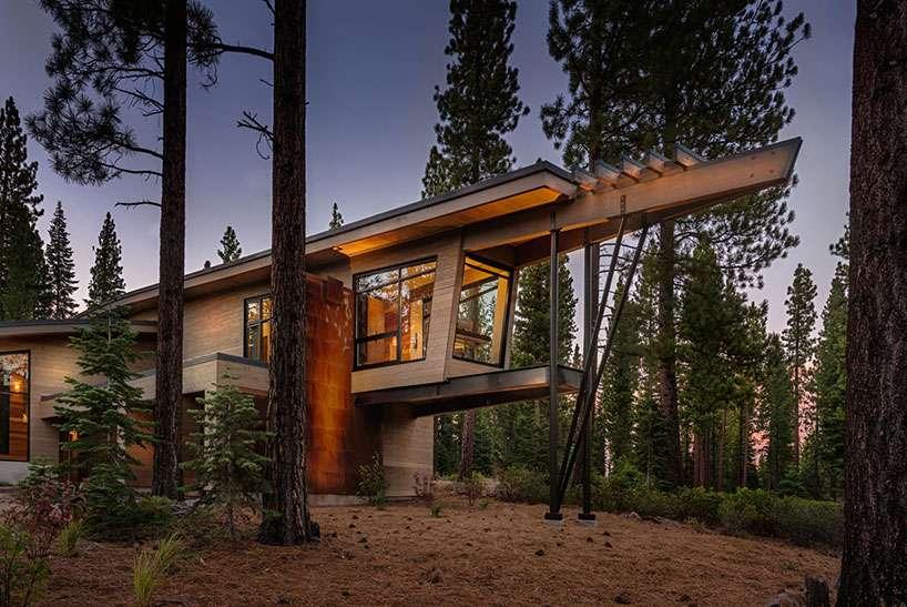 Luxury Mountain Home Flashing Mid Century Modern Appeal Freshome