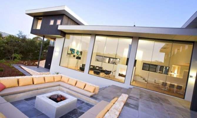 Luxury Outdoor Living Room Plan One Total Modern