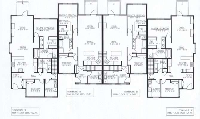 Luxury Townhomes Floor Plans