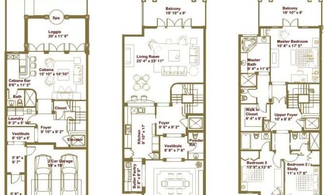 Luxury Townhouse Floor Plans Oriana Sea