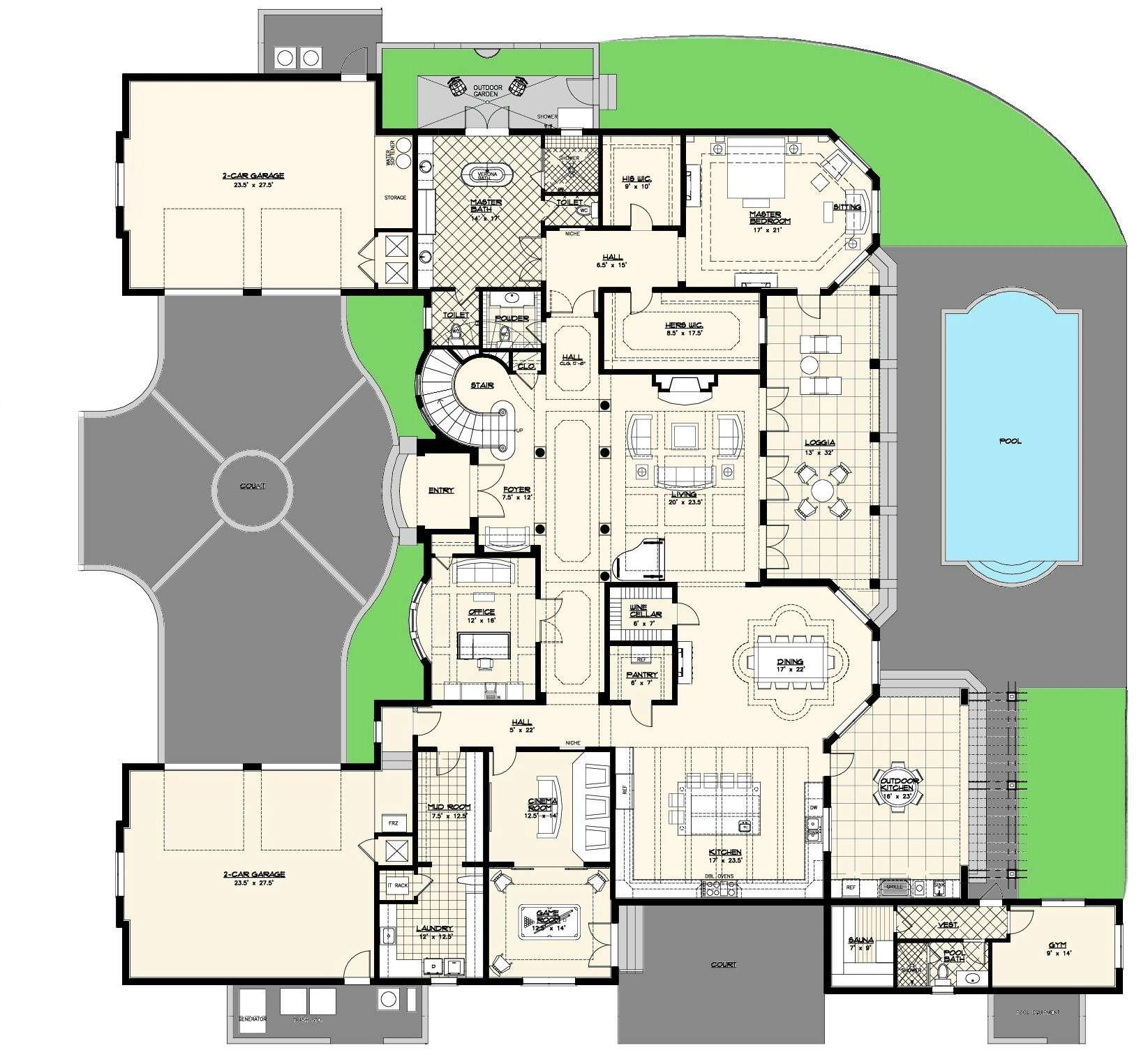 Luxury Villas Floor Plans